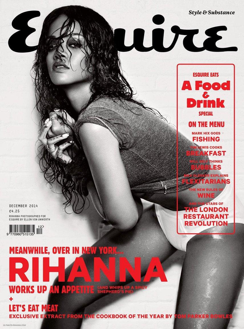 1. Пикантная фотосессия Рианны для нового номера журнала Esquire