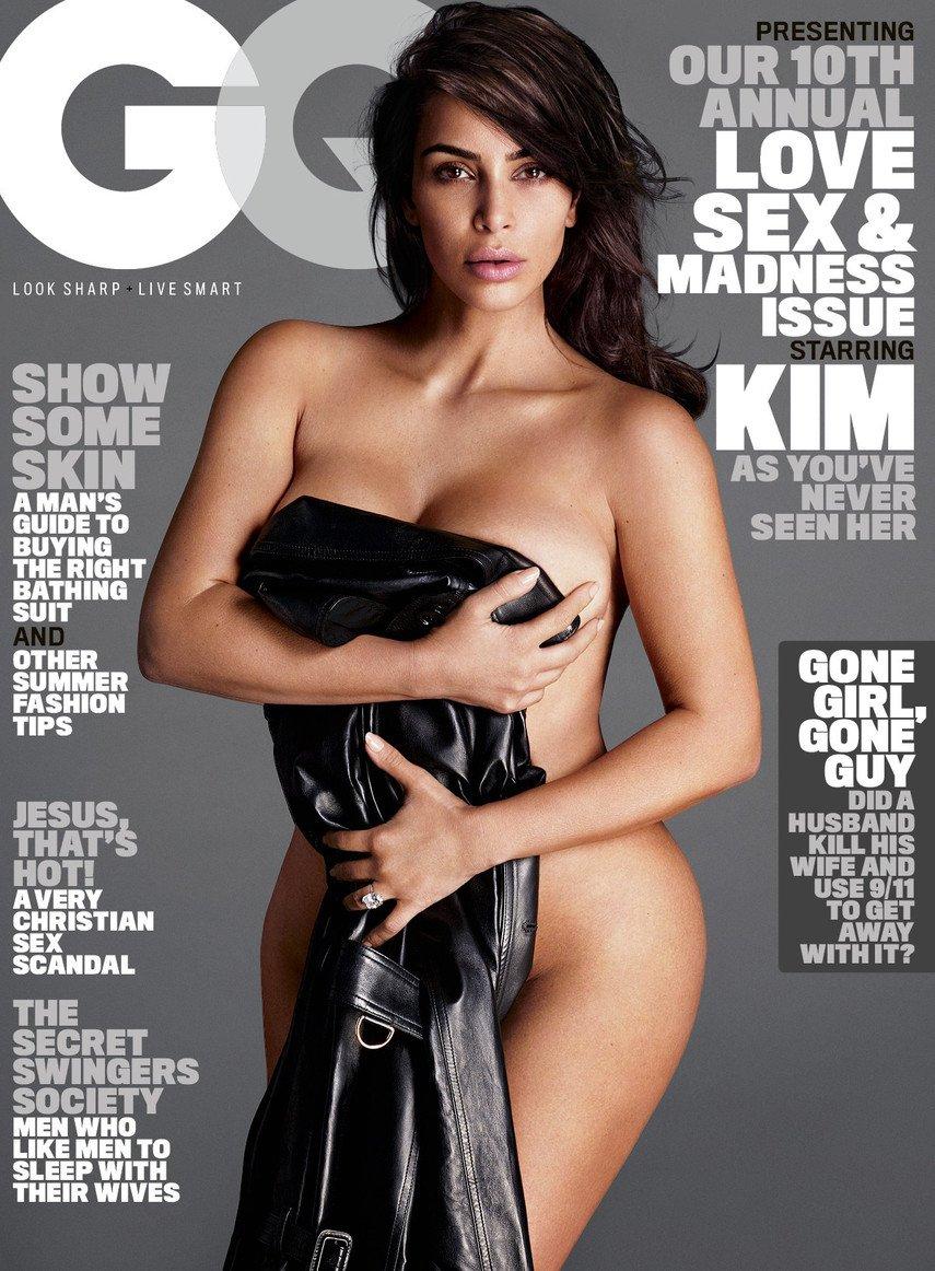 1. Ким Кардашьян снялась голой для журнала GQ