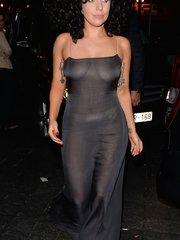 Леди Гага в прозрачном платье в брюссельском клубе Jazz Club