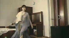 Наталья Воробьева в прозрачной накидке