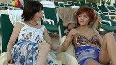 1. Дарья Повереннова и Ирина Лачина заигрывают на пляже – Слабости сильной женщины