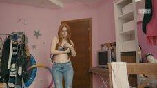 15. Ксения Суркова в лифчике перед вебкой – Ольга