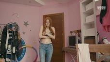 16. Ксения Суркова в лифчике перед вебкой – Ольга