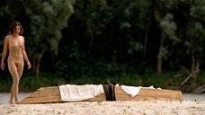 4. Полностью голая Полина Агуреева на берегу реки – Эйфория