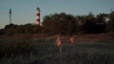 Секс с Северией Янушаускайте на берегу балтийского моря