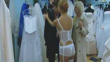 Секси Эльвира Болгова в белом белье