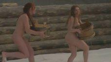 2. Полностью голая Екатерина Копанова в бане – Из пламя и света