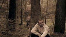 Полина Сыркина в трусиках в лесу