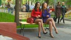 1. Ножки Евгении Крегжде и Анжелики Кашириной – Даёшь молодёжь!