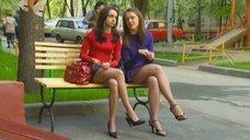 3. Ножки Евгении Крегжде и Анжелики Кашириной – Даёшь молодёжь!