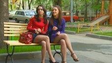 5. Ножки Евгении Крегжде и Анжелики Кашириной – Даёшь молодёжь!