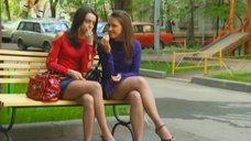 Ножки Евгении Крегжде и Анжелики Кашириной