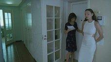 Наталия Антонова без лифчика в элегантном платье