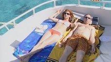Елена Бирюкова отдыхает на яхте