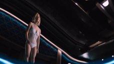 3. Дженнифер Лоуренс плавает в бассейне в невесомости – Пассажиры