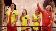 Глюкоза и Юля Савичева без лифчиков в телешоу «Форт боярд»