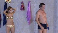 Ирина Медведева в золотистом бикини