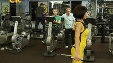 Ирина Медведева в спортзале