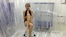 Дарья Мельникова в купальнике в Эстафете Ice Bucket Challenge