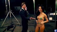 Эротичная Анна Плетнева на съемках клипа «3 желания»