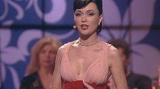 Декольте Анастасии Заворотнюк на «Танцах со звездами»