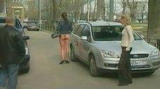 1. Анна Антонова в стрингах на улице – Женская лига