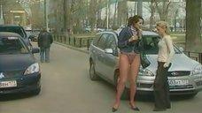 3. Анна Антонова в стрингах на улице – Женская лига