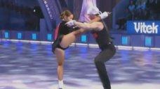Горячий танец Екатерины Гусевой на «Звёзды на льду»