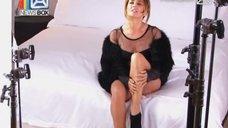 Соблазнительная Жанна Фриске на съёмках клипа «Ты рядом»
