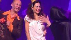 2. Екатерина Климова в прозрачном платье в спектакле «Мастер и Маргарита»