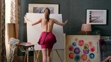 8. Диана Пожарская рисует грудью картину – Отель Элеон
