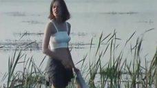 Елена Дробышева в топике без лифчика