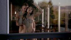 Страстный секс с Леа Гибсон у окна