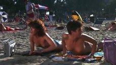 2. Испуганные девушки засветили грудь ня пляже – Полицейская академия 2: Их первое задание