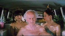 Девушки топлес в лимузине