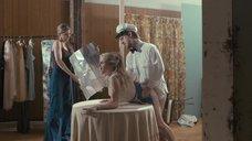 Съемка секса с Ларисой Полонски на столе