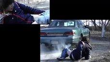 Эллен Пейдж выбросили из автомобиля