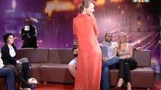 Ксения Собчак в прозрачном красном платье