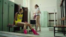Изабель Эйдлен и Дарья Пицик в раздевалке