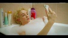 Анастасия Талызина в прямом эфире с ванны