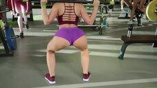 Сочная попка в спортзале