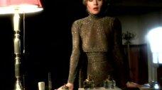 Гражина Шаполовская в прозрачном платье без лифчика