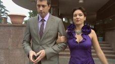Соски Ольги Павловец просматриваются сквозь платье
