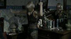 Эмилия Спивак в черной прозрачной ночнушке