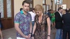 3. Анастасия Задорожная в коротком прозрачном платье