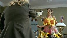 Евгения Серебренникова в прозрачном платье