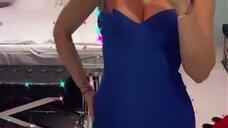 2. Наталья Рудова в сексуальном платье