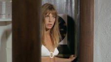 7. Джейн Биркин в белом купальнике – Бассейн