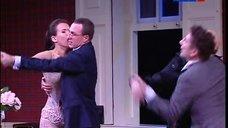 4. Паулина Андреева в белье на сцене