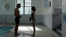 6. Каролина Равасса в синем купальнике – Сериал Любовники